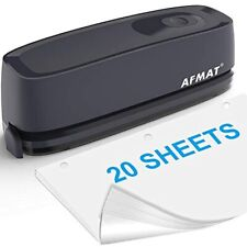 3 Hole Punch Afmat Electric Heavy Duty 20 Sheet Paper Puncher Ac Or Battery