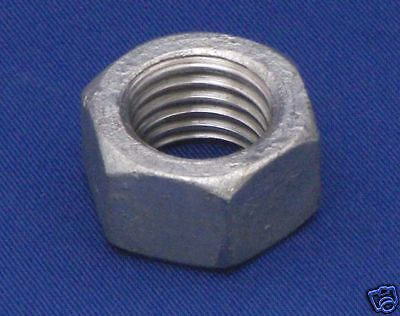 50 1//4-20 Hot Dipped Galvanized Finish Hex Nut