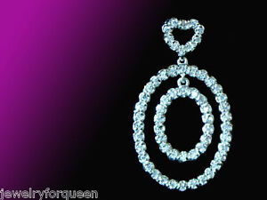 Chic Cz Cubic Zirconia Pendant 925 Sterling Silver Fashion Bridal Wedding Party Bridal & Wedding Party Jewelry