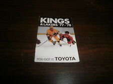NHL NBA LA Kings & Lakers Vintage 77-78 Pocket Schedule