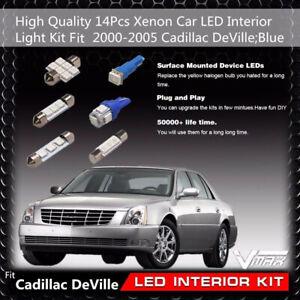 14x Car Parts Blue Led Bulbs Interior Light Kits Fit Cars 00 05 Cadillac Deville Ebay