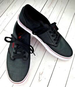 e10b1cc017 Vans Atwood Skate Mens SZ 10 Charcoal Casual Sneakers Dark Gray Red ...