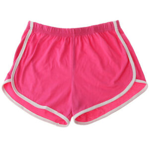 Women-Teen-Girls-Yoga-Running-Workout-Shorts-Athletic-Elastic-Waist