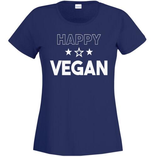 Ladies Tee Women/'s T-Shirt Happy Vegan
