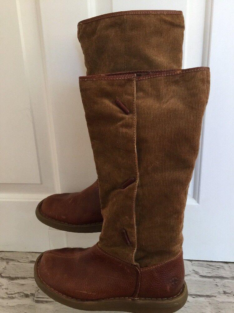 Womens Rare Dr Martens Boots Uk7 EU41 Half Corduroy Half Leather Stunning