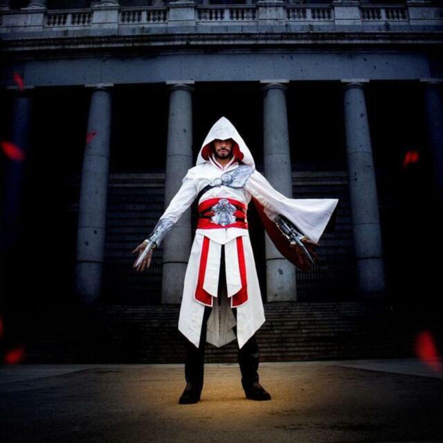 In Stock/&Ready Ship~ Assassin Ezio Auditore da Firenze Cosplay Costume mp000169