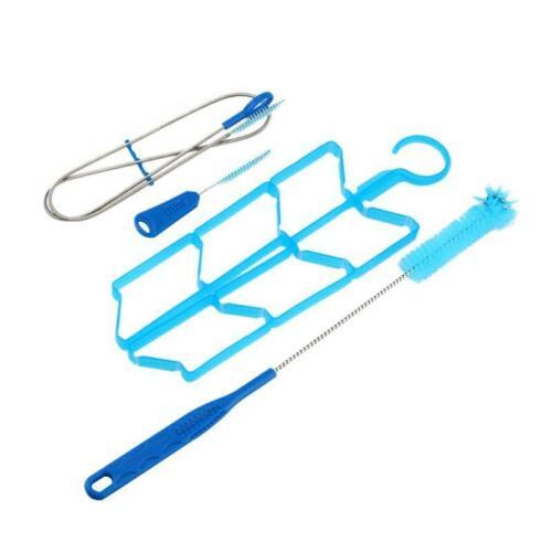 4pcs//set Hydration Pack Water Bladder Bag Cleaning Kit Brush Drying Rack Set
