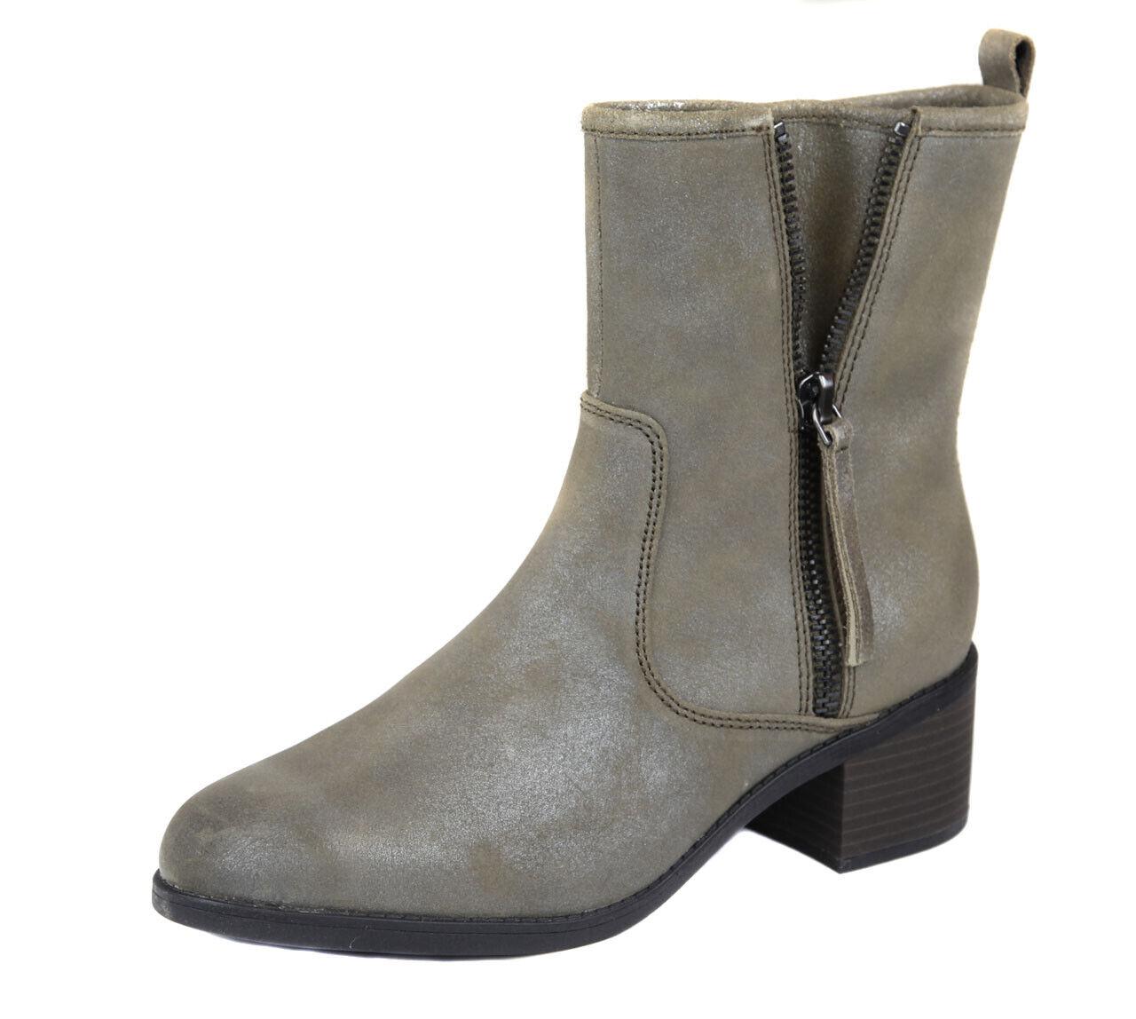 mejor precio Clarks Mujer gris Topo Oscuro Nevella Devop Cuero Cuero Cuero Botín botas Zapatos Ret Nuevo  ventas calientes