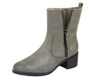 Zapatos Nuevo Botas Gris Cuero Oscuro Botín Clarks Topo Ret Devop Detalles Nevella Mujer De l1TFJ5u3Kc