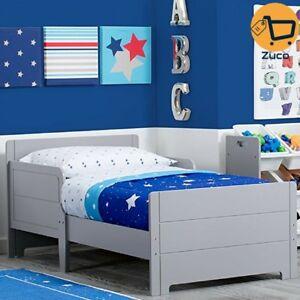 Kids Wood Toddler Bed Bedroom Furniture w Safety Rail For ...