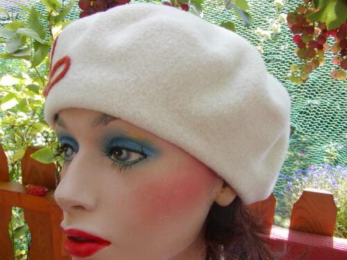 Baskenmütze Damen Mütze McBurn Applikation Damenmützen Damenhüte Ballonmütze