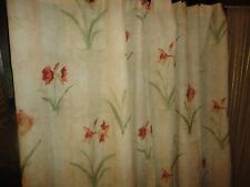 CROSCILL AMARYLLIS RED GREEN FLORAL FABRIC SHOWER CURTAIN 69 X 73