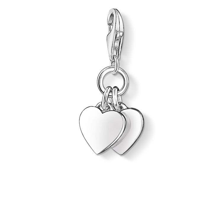 Genuine Thomas Sabo Charm Club Two Hearts Charm CC836