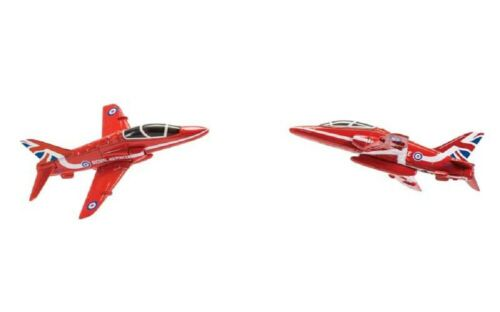 CORGI CS90687 RAF Hawk Red Arrows Synchro Pair FTB Scale