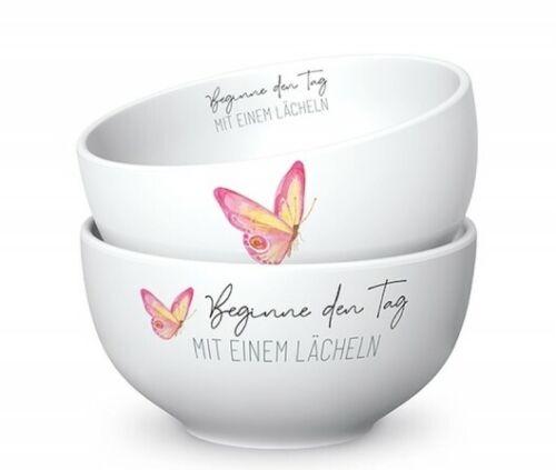 7 cm Lovely porcelaine la vid 13 cm H Bol à céréales Commencer la Journée Papillon D