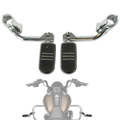 """1.25/"""" Footrest Footpeg Clamps Mounts for Harley Touring Softail Sportster Dyna"""