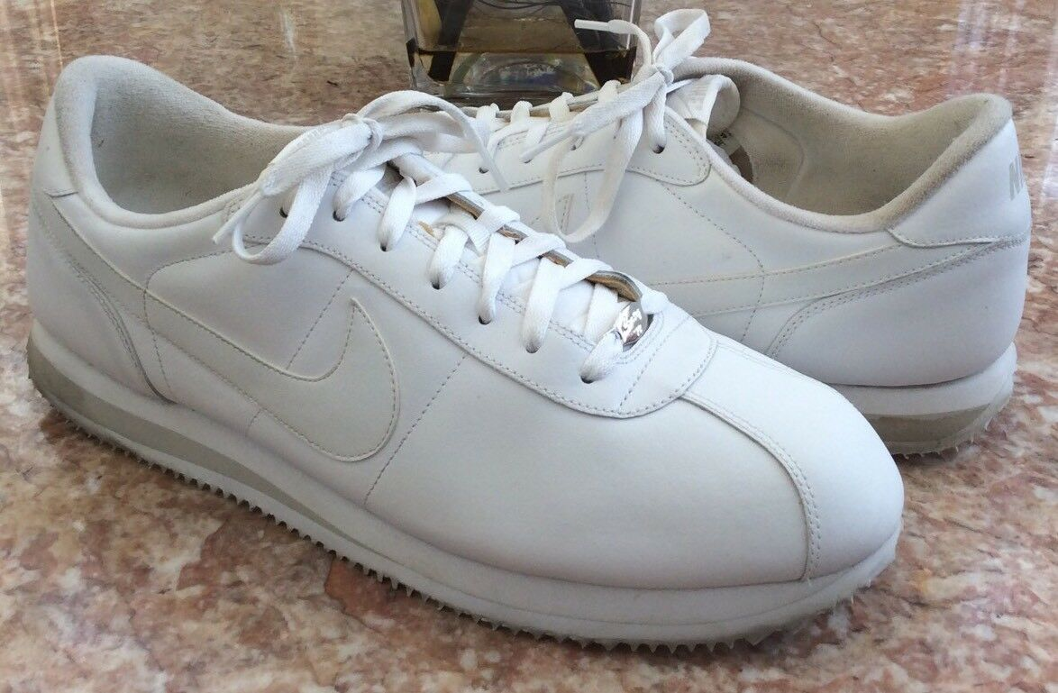 NIKE Cortez Basic Leather '06 Men's White Running Shoes Comfortable Brand discount