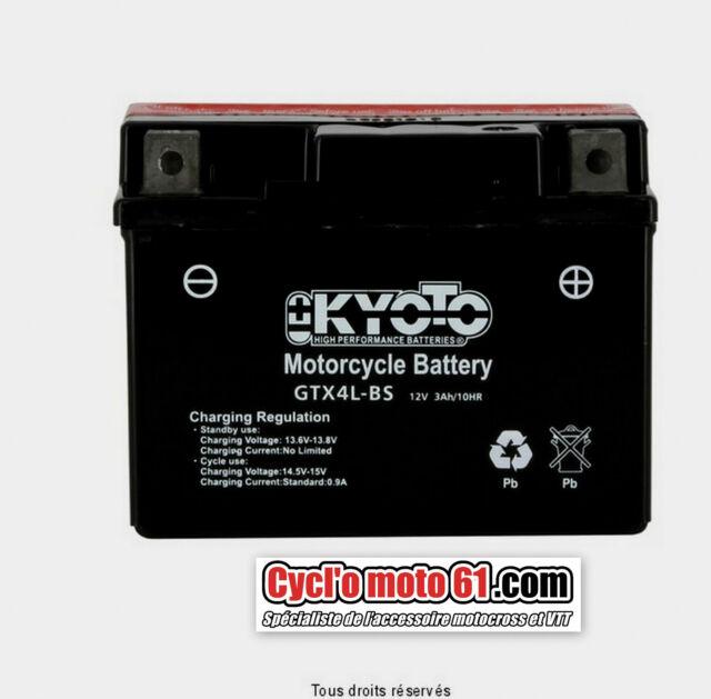 Motocycle battery Kyoto Aeon Revo 50/100 2003 à 2004 (YTX4L-BS)