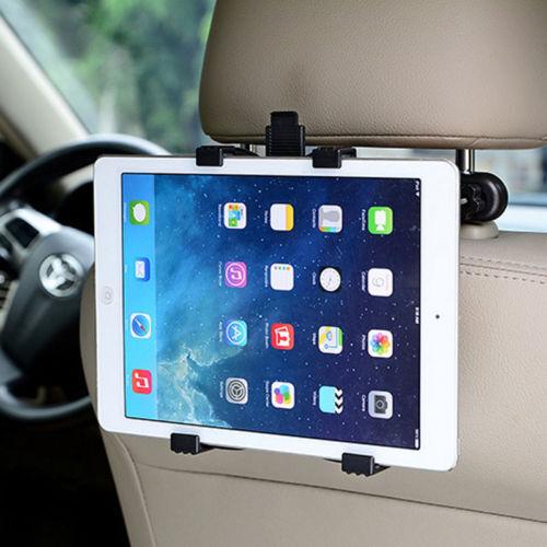 "360°Car Seat Back Headrest Mount Holder 7-12/""Tablet For IPad Mini GPS Bracket US"