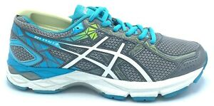 Asics Gel Exalt 3 Womens Running Shoes Grey Blue Duomax T666N EUC Size 6.5
