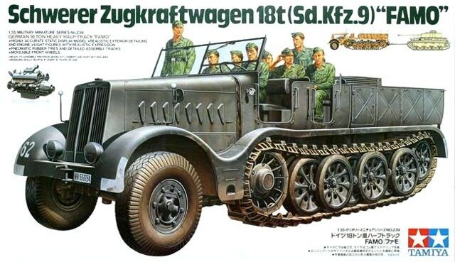 Tamiya 35239 1/35 Military Model Kit WWII German 18-Ton Heavy Half-Track Femo