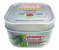 4 Pack Coleman Citronella Crackle Wick Candle Pine Scented 7714 on sale
