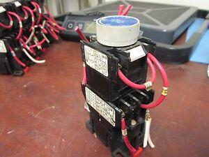 Telemecanique Timing Relay LA2-D22 CA2-DN1319-A60 120V Coil ... on