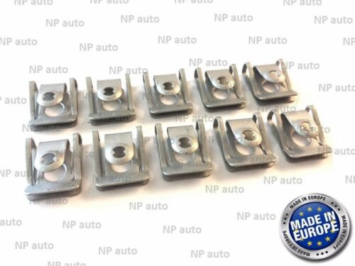10X GENUINE OEM AUDI BMW UNDER ENGINE /& GEARBOX UNDERTRAY COVER CLIPS FASTENERS