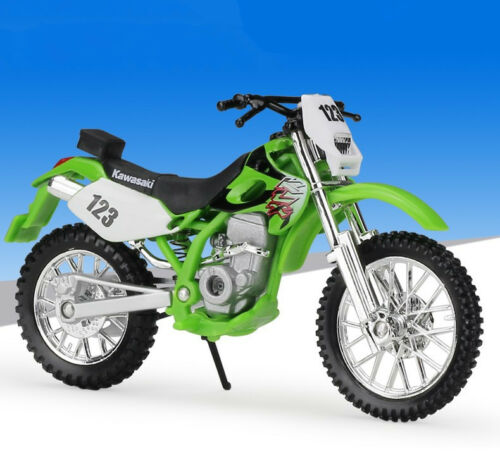 1:18 Maisto Kawasaki KLX 250SR Motorcycle Motocross Bike Model Toy Green