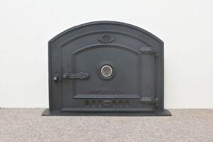 old ventilation grille stove smoke cast iron fire door bread oven door