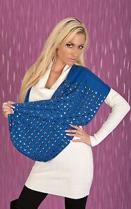 Kleidung & Accessoires Edler Nieten Schal Blau Damen-accessoires Women's Scarf A2-2404