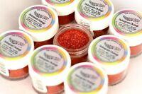 ORANGE HOLOGRAM Rainbow Dust 'Edible' Cake Glitter Sparkle POT *SAME DAY  POST