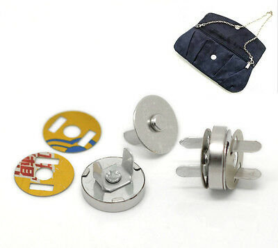 20 Sets Silver Tone Magnetic Purse Snap Clasps/ Closure Purse Handbag 14mm Dia