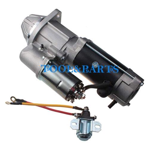 Starter Motor 8970298637 with Solenoid for Isuzu 4BD1 4BG1 4BG1T Engine