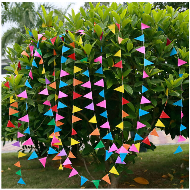 13ft Colorful Flag Garland Tree Wedding Birthday Party Bunting Banner Decoration