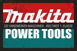 Makita Power Tools Garage Shop Man cave metal sign  4x12 50156
