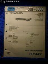Sony Service Manual SDP E800 Digital Surround Processor  (#6667)