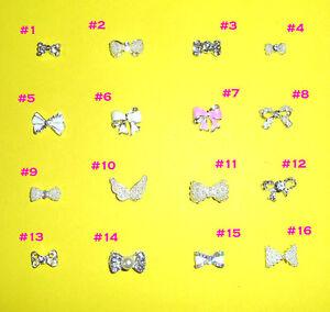 Nail-Art-3D-Metal-Alloy-Bling-Rhinestone-Crystal-Glitter-Bow-Tie-Decoration-10pc