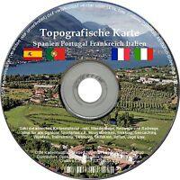 Topo Karte Garmin Frankreich Portugal Spanien Italien Geocaching Wandern Gps Map