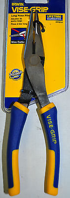 """IRWIN VISE GRIP Wire 8"""" LONG NOSE PLIER WITH CUTTER  2078218"""