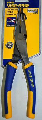 "IRWIN VISE GRIP Wire 8"" LONG NOSE PLIER WITH CUTTER  2078218"