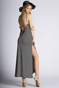 c6060144484 Image is loading Black-and-White-Striped-Open-Back-Dress-STYLE-