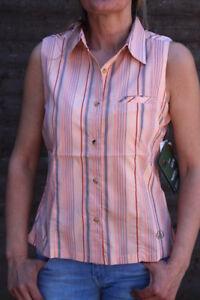 WOW! Maul Damen Top Bluse Hemd grün Streifen Gr 38 42 sportiv leicht NEU Maul-19