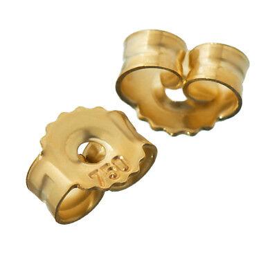 1paar 750 Gelbgold Gegenstecker Ohrstecker Ohrstopper Loch 0,9mm Ohrmutter 4818