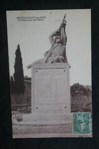 Postcard-Antique-1922-Chateauneuf-Du-Pape-The-Monument-Aux-Dead