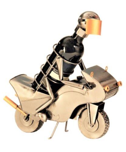 Flaschenüberzug Motorradfahrer Metall Flaschenständer Weinhalter Metallständer