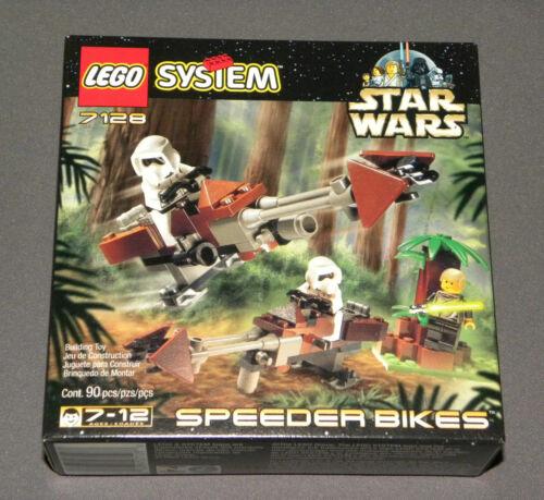 USED 1999 LEGO STAR WARS:EPISODE VI SET #7128 SPEEDER BIKES w//INSTRUCTIONS XMAS!