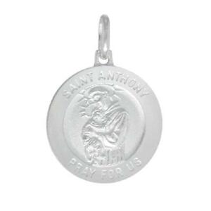 Sterling silver st anthony pendant charm made in italy18 image is loading sterling silver st anthony pendant charm made in aloadofball Images