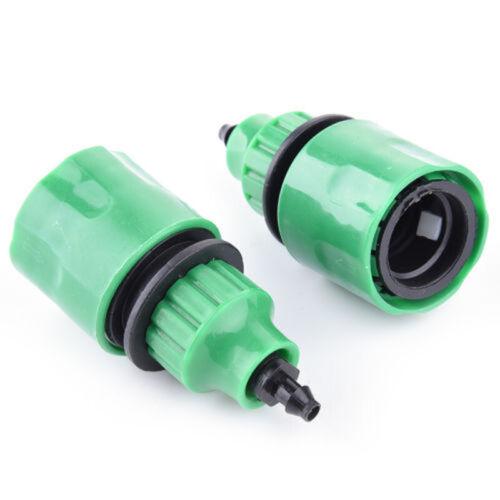 2PCS Gartenbewässerung Wasserschlauch Rohrhahn Kunststoffverbinder Adapter