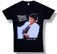Michael Jackson-Thriller Cover-Medium Black  Girl's Junior Lightweight T-shirt